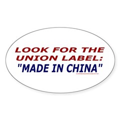 Union Label Decal
