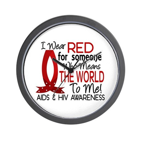 Means World To Me 1 AIDS Wall Clock