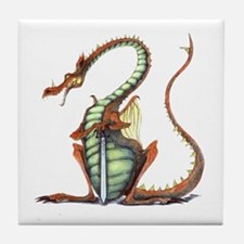 sir draagon tile coaster