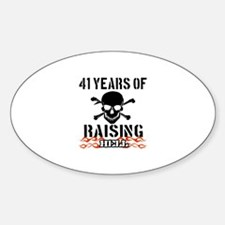 41 Years of Raising Hell Sticker (Oval)