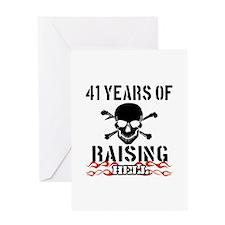 41 Years of Raising Hell Greeting Card