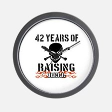 42 Years of Raising Hell Wall Clock