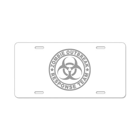 Zombie Outbreak Response Team Aluminum License Pla