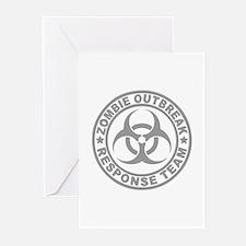 Zombie Outbreak Response Team Greeting Cards (Pk o