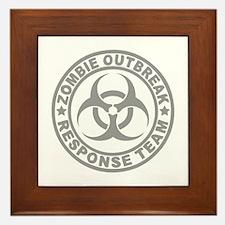 Zombie Outbreak Response Team Framed Tile