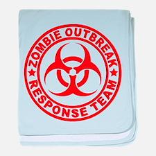 Zombie Outbreak Response Team baby blanket