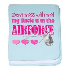 Don't Mess with Me (Air Force baby blanket