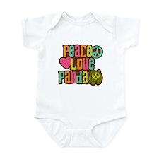 Peace Love Panda Infant Bodysuit