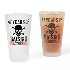 47 Years of Raising Hell Drinking Glass