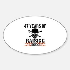 47 Years of Raising Hell Decal