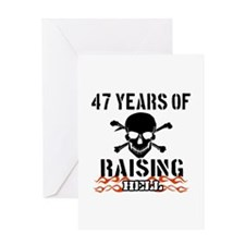 47 Years of Raising Hell Greeting Card