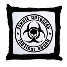 Zombie Outbreak Technical Squad Throw Pillow