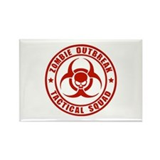 Zombie Outbreak Technical Squad Rectangle Magnet (
