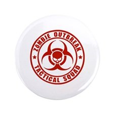"Zombie Outbreak Technical Squad 3.5"" Button"