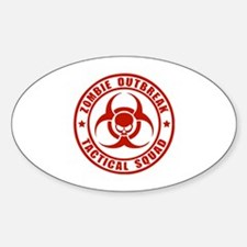 Zombie Outbreak Technical Squad Sticker (Oval)