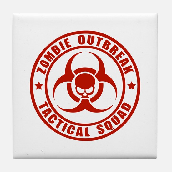 Zombie Outbreak Technical Squad Tile Coaster