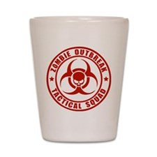 Zombie Outbreak Technical Squad Shot Glass