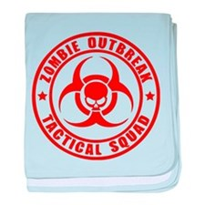 Zombie Outbreak Technical Squad baby blanket