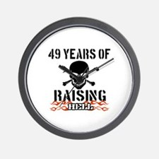 49 Years of Raising Hell Wall Clock