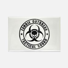 Zombie Outbreak Technical Squad Rectangle Magnet