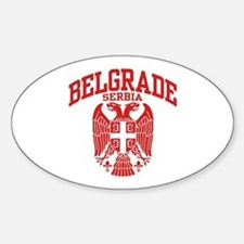 Belgrade Serbia Sticker (Oval)