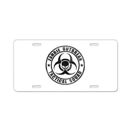 Zombie Outbreak Technical Squad Aluminum License P