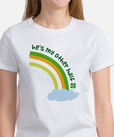 He's My Other Half Irish Rainbow Tee
