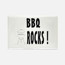 BBQ Rocks ! Rectangle Magnet