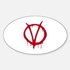 Vendetta Sticker (Oval)