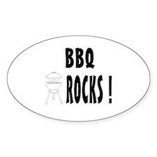 BBQ Rocks ! Oval Decal