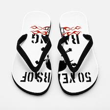 50 Years of Raising Hell Flip Flops
