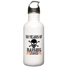 50 Years of Raising Hell Water Bottle