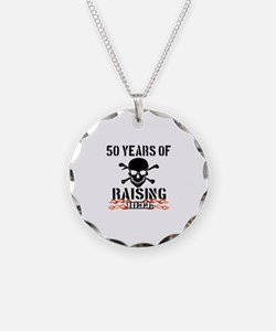 50 Years of Raising Hell Necklace Circle Charm