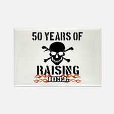 50 Years of Raising Hell Rectangle Magnet