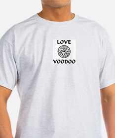 LoveVooDoo B/W Ash Grey T-Shirt