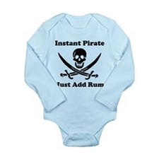 Instant Pirate Long Sleeve Infant Bodysuit