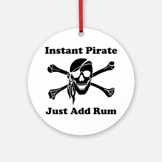 Instant Pirate Ornament (Round)