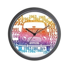 Renault 4 Hippy Wall Clock
