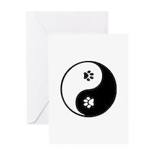 YinYang Paws Greeting Card