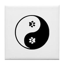 YinYang Paws Tile Coaster