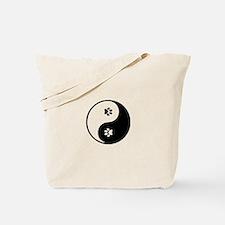 YinYang Paws Tote Bag