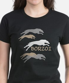 running borzoi with text sqwh2 T-Shirt