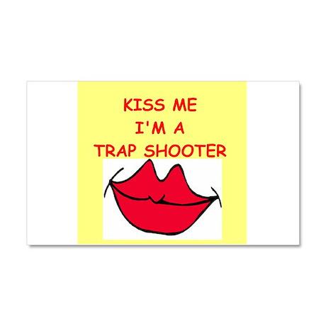 trap shooting Car Magnet 20 x 12