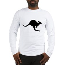 Hopping Kangaroo Long Sleeve T-Shirt