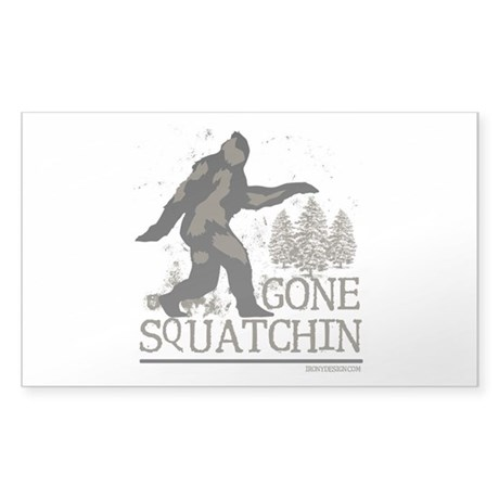Gone Squatchin Sticker (Rectangle)