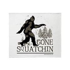 Gone Squatchin Throw Blanket