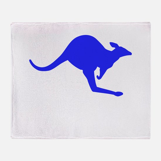 Hopping Kangaroo Throw Blanket