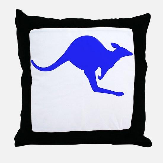 Hopping Kangaroo Throw Pillow