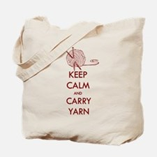 Keep Calm & Carry Yarn Tote Bag