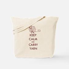 Keep Calm & Carry Yarn Tote Bag